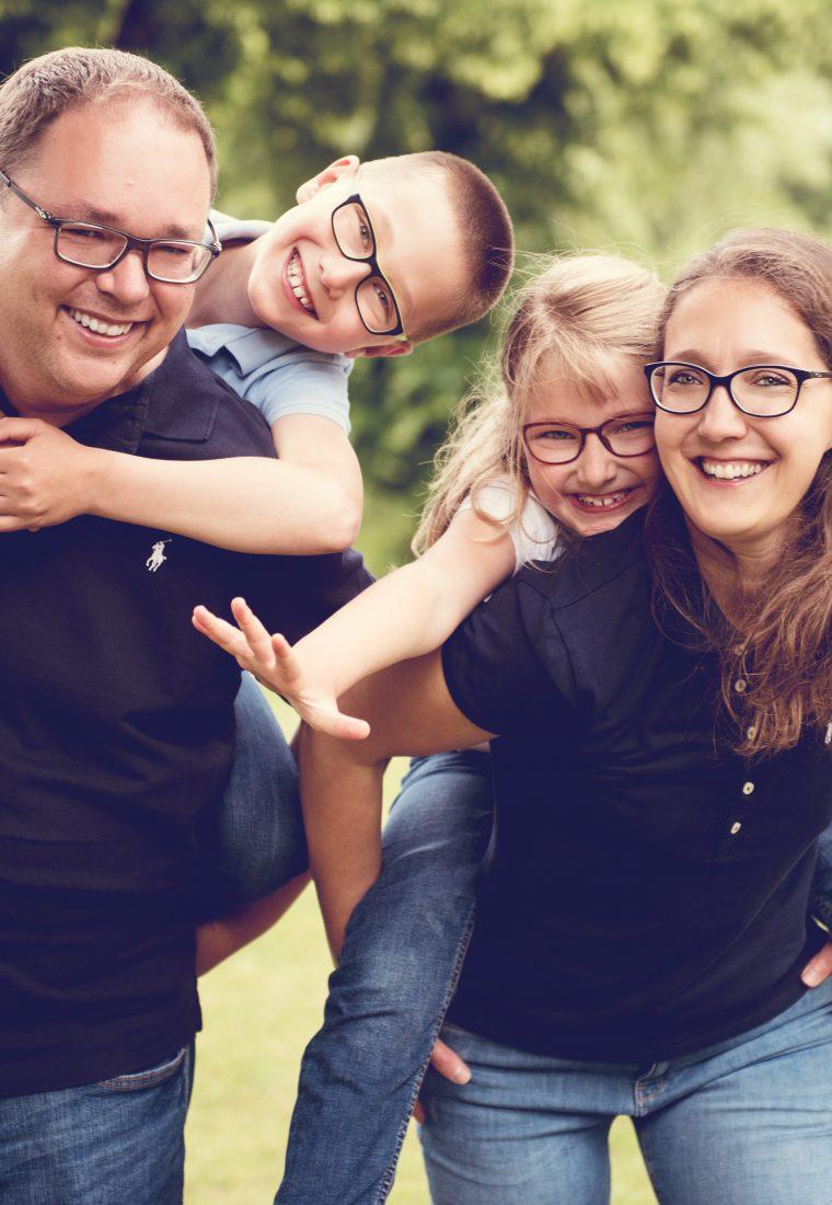 Ein wildes Familienshooting