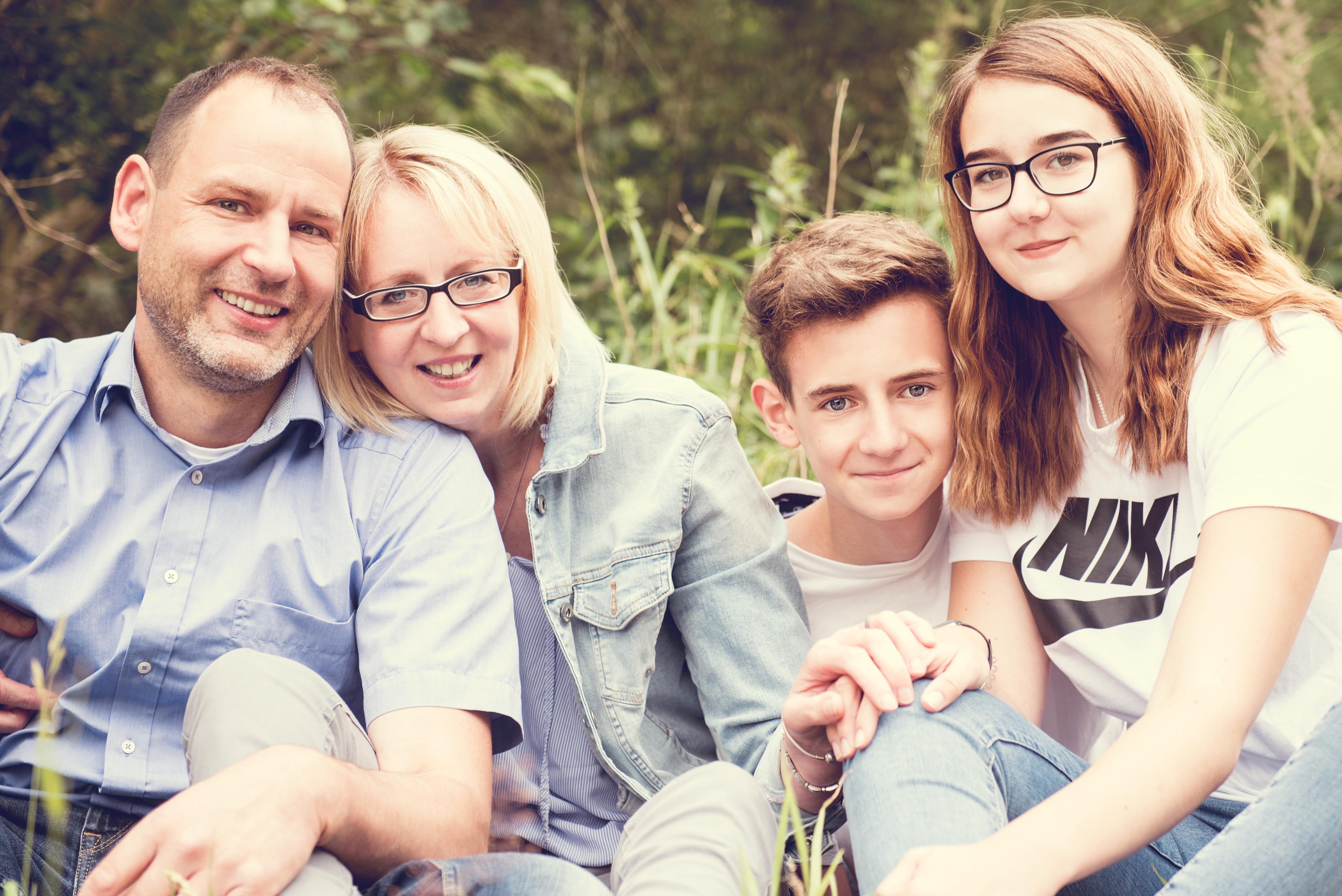 Familienshooting mit Teenagern